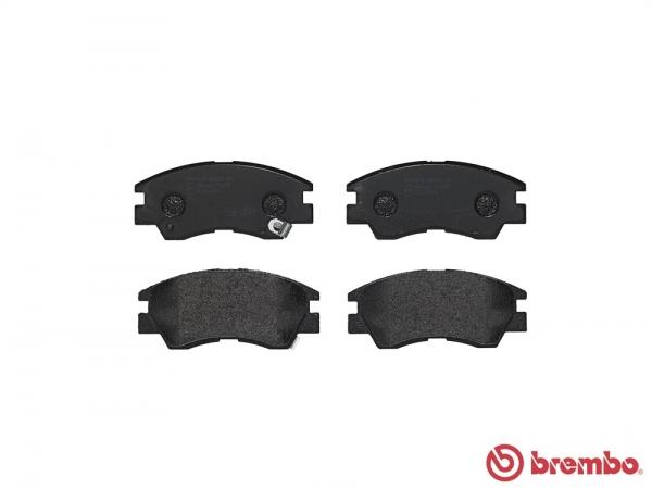 【ブレンボ】ブレーキパッド MITSUBISHI デリカ [ P02V P05V ][ 86/4~94/3 ][ FRONT ] 【 レッド | 低平床/ルートバン 】