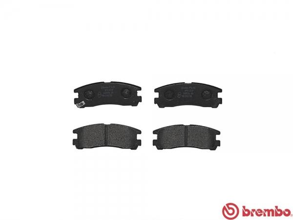 【ブレンボ】ブレーキパッド MITSUBISHI RVR [ N23WG ][ 91/1~97/3 ][ REAR ] 【 ブラック | NA 】