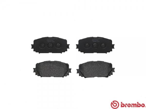 【ブレンボ】ブレーキパッド TOYOTA ラクティス [ NCP120 ][ 10/11~14/04 ][ FRONT ] 【 ブラック   Rear DISC 】