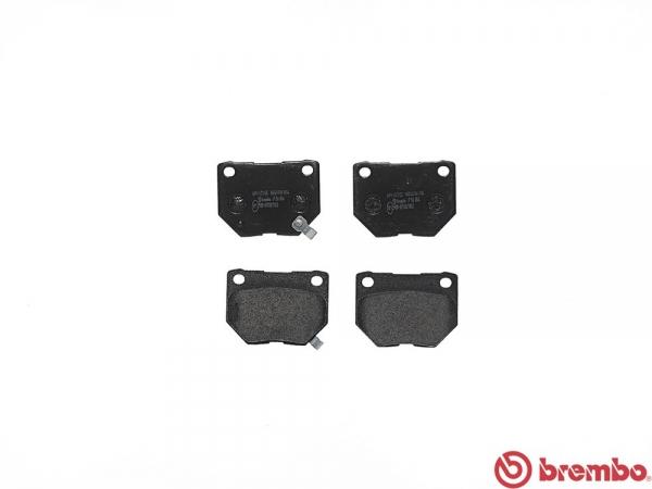 【ブレンボ】ブレーキパッド NISSAN スカイライン [ ECR33 ][ 93/8~98/11 ][ REAR ] 【 ブラック | TURBO 】