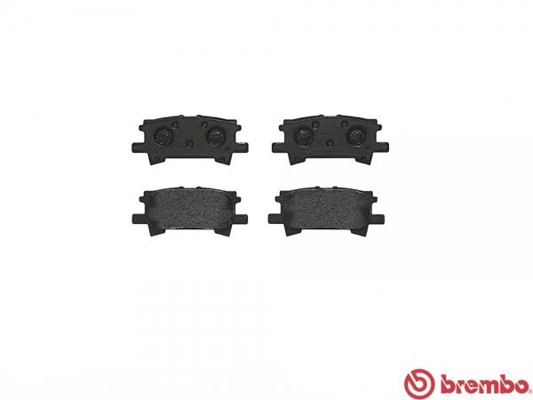 【ブレンボ】ブレーキパッド TOYOTA クルーガーL/V [ MHU28W ][ 05/03~07/05 ][ REAR ] 【 ブラック   Hybrid 】