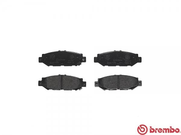 【ブレンボ】ブレーキパッド TOYOTA グランビア [ VCH10W VCH16W ][ 95/8~05/01 ][ REAR ] 【 ブラック 】