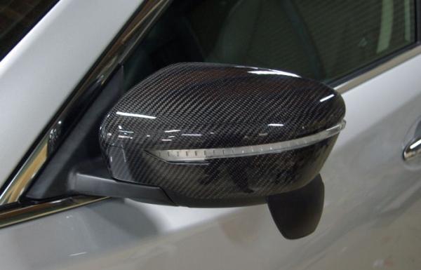 T32 エクストレイル | エアロミラー / ミラーカバー【キュリオスモデルス】エクストレイル T32 ドアミラーカバー 左右2点セット 綾織カーボン製 クリア塗装済