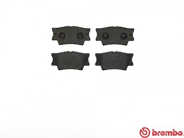 【ブレンボ】ブレーキパッド TOYOTA サイ [ AZK10 ][ 09/11~09/12 ][ REAR ] 【 ブラック 】