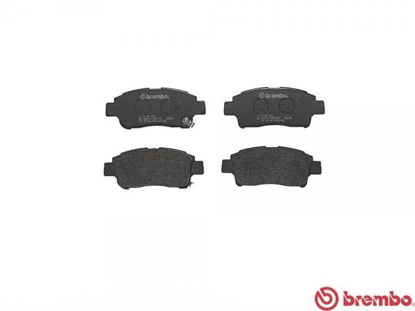 【ブレンボ】ブレーキパッド TOYOTA サクシード ワゴン [ NCP58G NCP59G ][ 02/06~ ][ FRONT ] 【 レッド | 13inch wheel (235mm DISC) 】