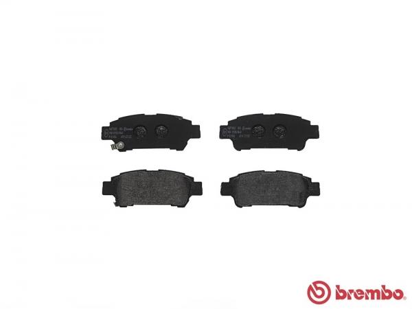 【ブレンボ】ブレーキパッド TOYOTA ノア / ヴォクシー [ ZRR70G ][ 07/06~14/01 ][ REAR ] 【 レッド | VSC付 】