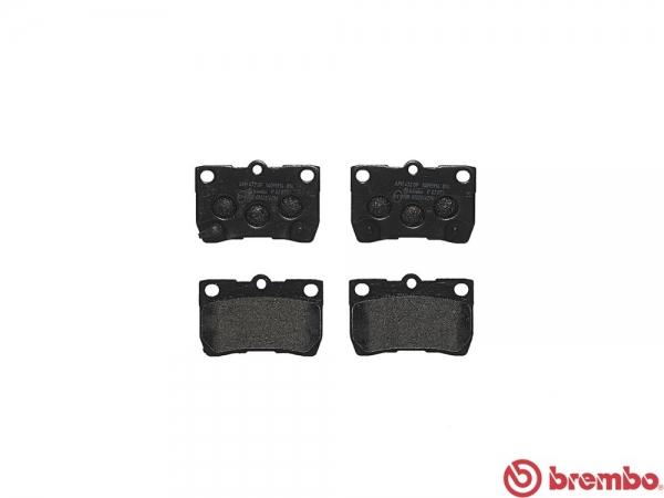 【ブレンボ】ブレーキパッド LEXUS IS350C [ GSE21 ][ 09/04~13/08 ][ REAR ] 【 ブラック 】