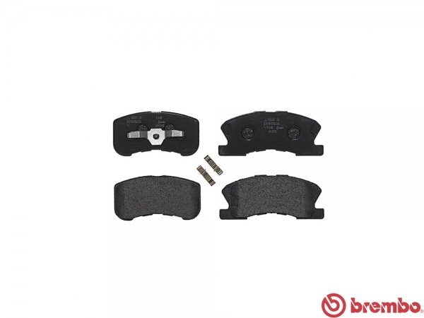 【ブレンボ】ブレーキパッド DAIHATSU ミラ [ L710S ][ 98/10~02/12 ][ FRONT ] 【 ブラック | ABS付(TURBO) 】