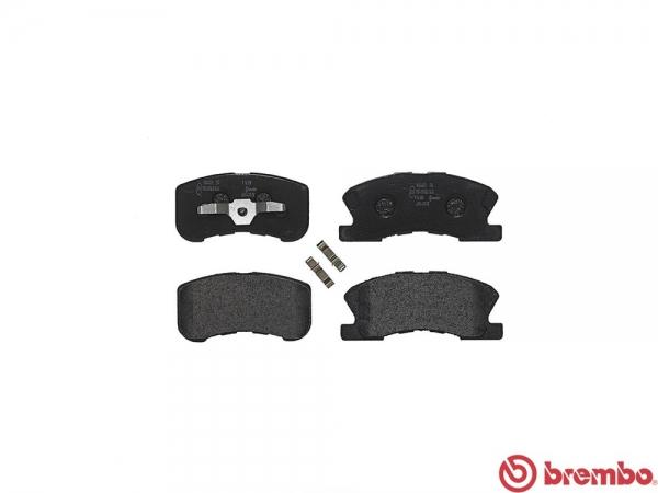 【ブレンボ】ブレーキパッド DAIHATSU オプティ [ L800S ][ 98/11~99/8 ][ FRONT ] 【 ブラック | ABS付(TURBO) 】