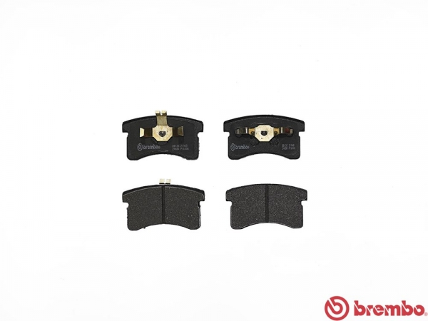 【ブレンボ】ブレーキパッド DAIHATSU ミラ [ L200S ][ 90/3~95/1 ][ FRONT ] 【 レッド   Front AKEBONO NBK 】