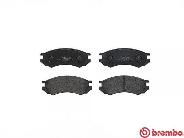 【ブレンボ】ブレーキパッド NISSAN プリメーラ / カミノ [ P10 ][ 92/9~95/9 ][ FRONT ] 【 ブラック | Engine [SR18DE] ABS無 】