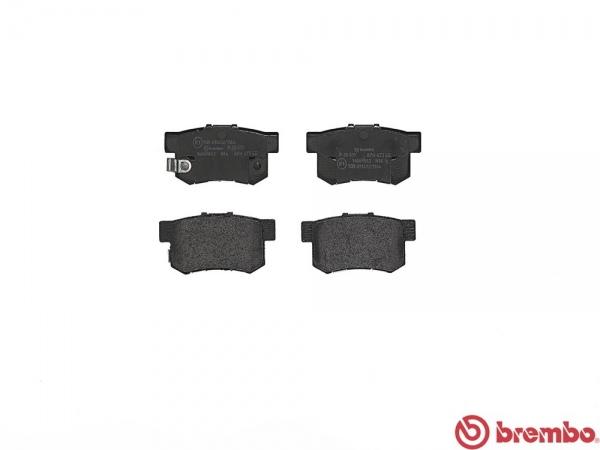 【ブレンボ】ブレーキパッド HONDA CR-V [ RD5 ][ 01/10~06/10 ][ REAR ] 【 レッド   AT VSA付 】