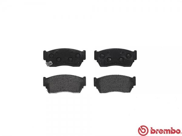 【ブレンボ】ブレーキパッド NISSAN プレセア [ R10 PR10 ][ 90/6~95/1 ][ FRONT ] 【 ブラック | ABS無 】