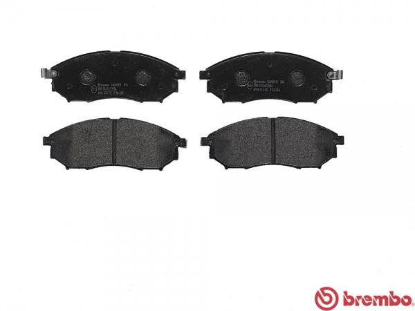 【ブレンボ】ブレーキパッド NISSAN フェアレディ Z [ Z33 HZ33 ][ 05/09~08/12 ][ FRONT ] 【 レッド | Base Grade/Version T/キャリパーBrembo製除く 】