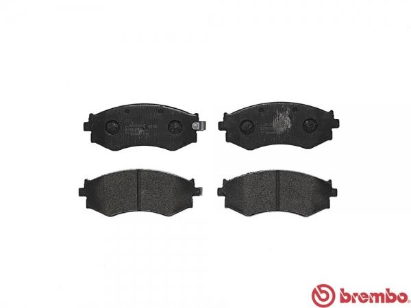 【ブレンボ】ブレーキパッド NISSAN ブルーバード [ EU14 SU14 ][ 96/1~97/9 ][ FRONT ] 【 ブラック | ABS無 】