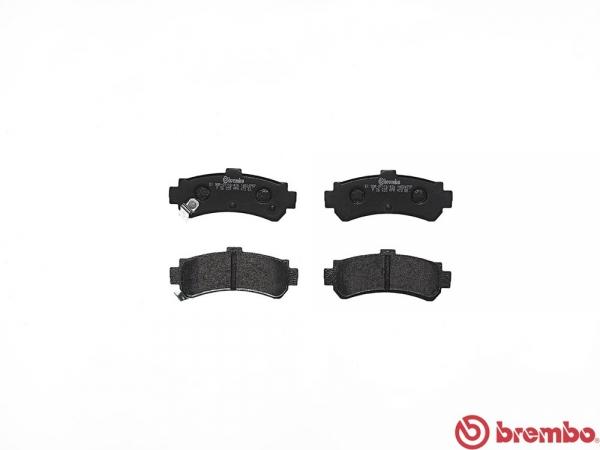 【ブレンボ】ブレーキパッド NISSAN ルキノ [ FN15 (S-RV) ][ 97/9~00/08 ][ REAR ] 【 ブラック | Rear DISC 】
