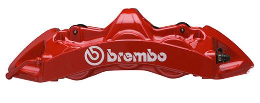 【ブレンボ】グランツーリスモブレーキキット FERRARI F430 Scuderia[ 2008~2009 ][ REAR ] 【 キャリパー:Monoblock6(32mm厚) | カラー:レッド | ピストン数:6POT | ローター径:380x32mm 2ピースローター | スリットローター 】