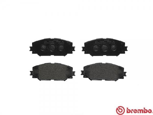 【ブレンボ】ブレーキパッド TOYOTA ウィッシュ [ ZGE20G ][ 09/04~14/04 ][ FRONT ] 【 ブラック | Rear DISC 】