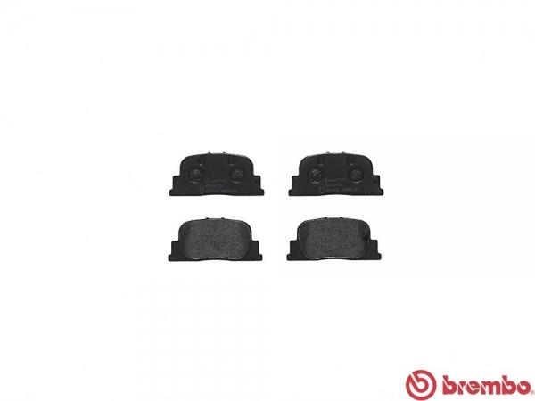 【ブレンボ】ブレーキパッド TOYOTA オーパ [ ZCT10 ][ 02/05~05/04 ][ REAR ] 【 ブラック | i仕様・iS Package/Rear DISC 】