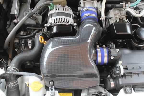 86 - ハチロク -   エアクリーナーBOX / ダクト【ガレージベリー】86 ZN6 後期 インテークBOX オートマ用 カーボン製