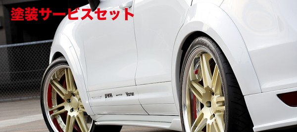 ★色番号塗装発送【★送料無料】 カイエン | オーバーフェンダー / トリム【アーティシャンスピリッツ】Porsche CAYENNE TURBO TYPE 958 SPORTS LINE BLACK LABAL OVER FENDER KIT 6P FRP製