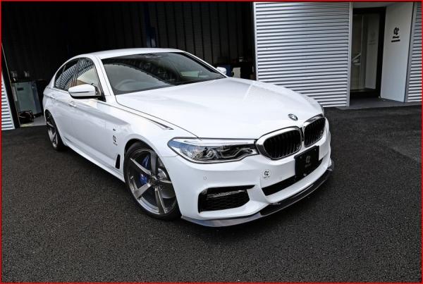 BMW 5 series G30/G31 | フロントリップ【3D デザイン】BMW 5series G30/G31 M-Sport フロントリップスポイラー カーボン