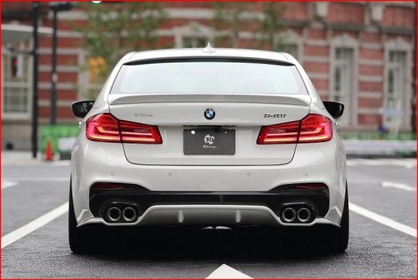 BMW 5 series G30/G31   リアアンダー / ディフューザー【3D デザイン】BMW 5series G30 M-Sport リアディフューザー タイプ1 GFRP