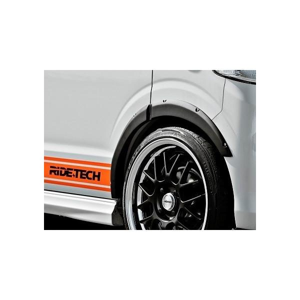 DA64W エブリイワゴン | オーバーフェンダー / トリム【ライドテック】エブリイ DA64W/V RIDE+TECH フェイクリベット付き オーバーフェンダー6p