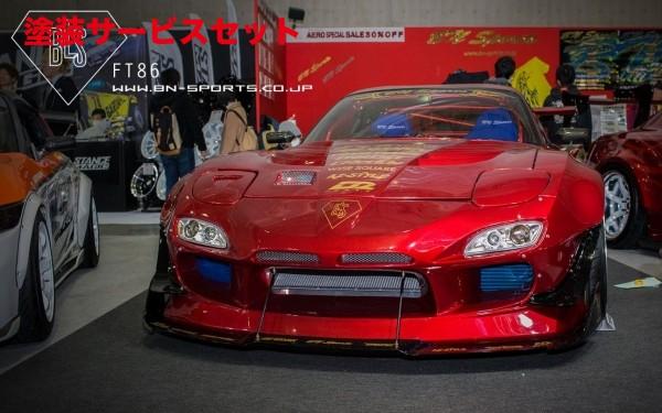 ★色番号塗装発送FD3S RX-7 | フロントバンパー【ビーエヌ スポーツ】FD RX-7 BLS FRONT BUMPER