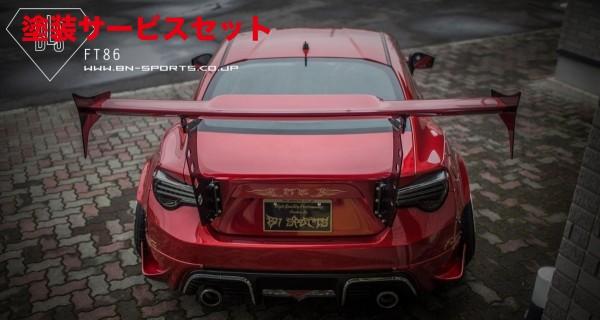 ★色番号塗装発送86 - ハチロク - | GT-WING【ビーエヌ スポーツ】86 ZN6 前期 BLS FT86 GT WING
