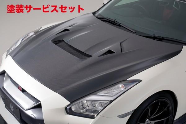 ★色番号塗装発送GT-R R35 | ボンネット ( フード )【バリス】R35 GT-R 17 Ver クーリングボンネットフード 17 MODEL VSDC