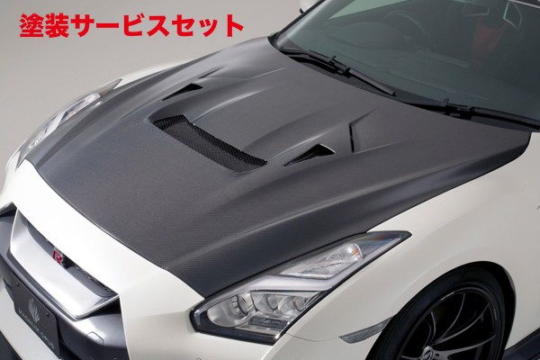 ★色番号塗装発送GT-R R35   ボンネット ( フード )【バリス】R35 GT-R 17 Ver クーリングボンネットフード 17 MODEL CARBON