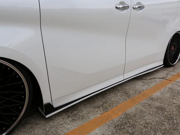 30 アルファード | サイドステップ【シックスセンス】アルファード 30 後期 Sグレード用 サイドステップ メーカー塗分け塗装