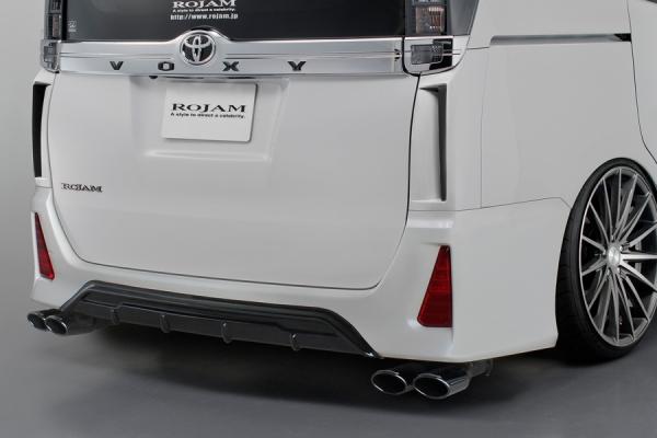 80/85 ヴォクシー VOXY   リアアンダー / ディフューザー【ロジャム】ヴォクシー 80系 ZS 後期 リアディフューザー ブラック塗装済み