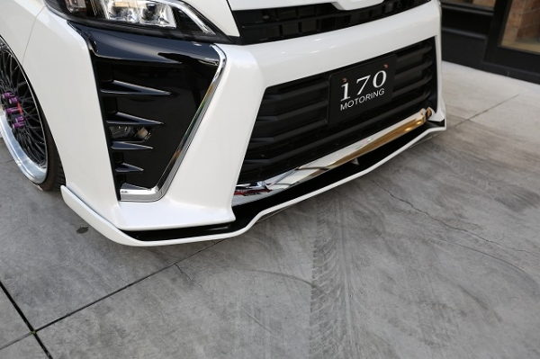 80/85 ヴォクシー VOXY | フロントリップ【シックスセンス】ヴォクシー 80 ZS 後期 フロントフラップスポイラー メーカー塗分け塗装(艶なし黒)