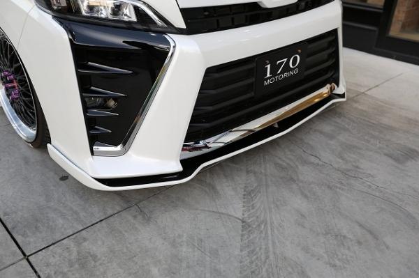 80/85 ヴォクシー VOXY   フロントリップ【シックスセンス】ヴォクシー 80 ZS 後期 フロントフラップスポイラー メーカー塗分け塗装(シルバー)