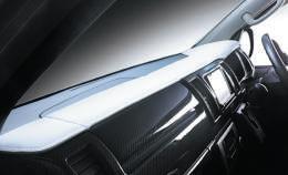200 ハイエース 標準ボディ | ダッシュボードカバー/パネル【ランボ】ハイエース 200系 標準ボディ レザーダッシュボードパネル ホワイト×シルバーステッチ