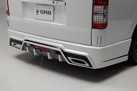 200 ハイエース   リアバンパー【GR8スタイル】ハイエース 200 ナロー 1~4型 リアバンパースポイラー Ver1