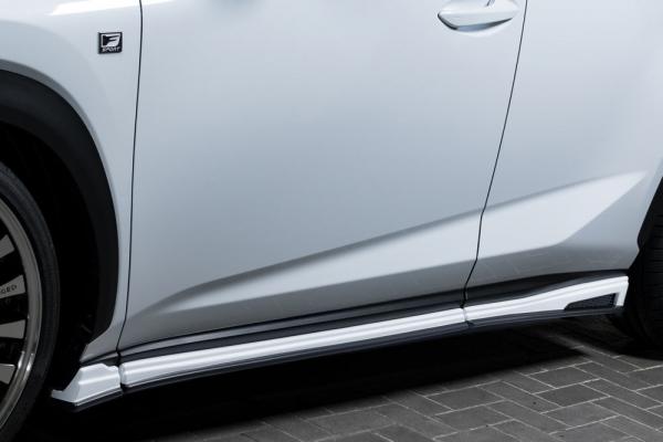 レクサス NX | サイドステップ【エクスクルージブ ゼウス】NX 300/300h 後期 LUVLINE Side Step メーカー塗装済:2色塗分け塗装