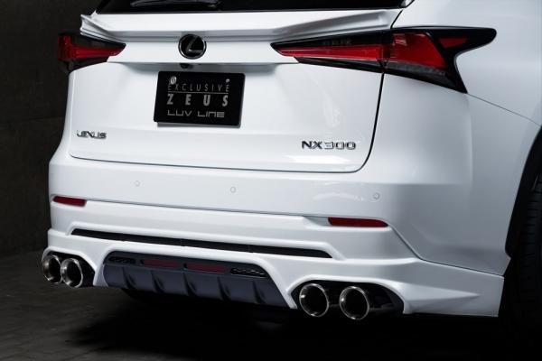 レクサス NX | リアアンダー / ディフューザー【エクスクルージブ ゼウス】NX 300/300h 後期 LUVLINE Rear Under Spoiler メーカー塗装済:212ブラック