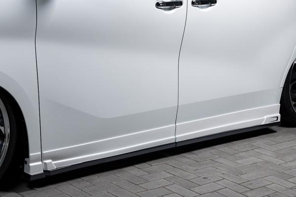 30 ヴェルファイア | サイドステップ【エクスクルージブ ゼウス】ヴェルファイア 30系 後期 GRACE LINE Side Step メーカー塗装済:070パールホワイト