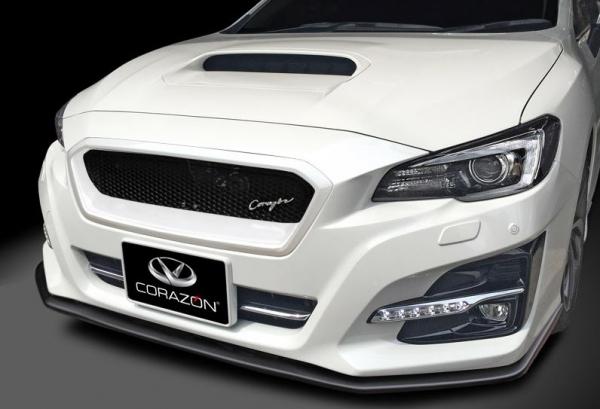 レヴォーグ | フロントグリル【コラゾン】レヴォーグ VMG/VM4 D型~ フロントグリルtypeS FRP ヘキサゴンネット クリスタルホワイト塗装済み