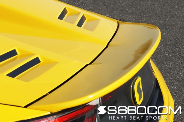 S660 | リアウイング / リアスポイラー【S660コム】S660 SPIDER リアウイング 未塗装