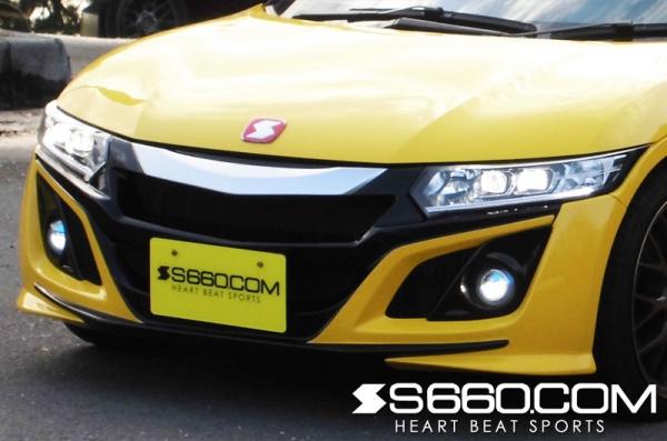 S660 | フロントフォグランプ【S660コム】S660 SPIDER LEDフォグインサートフレーム Ver.S メーカー塗装済み