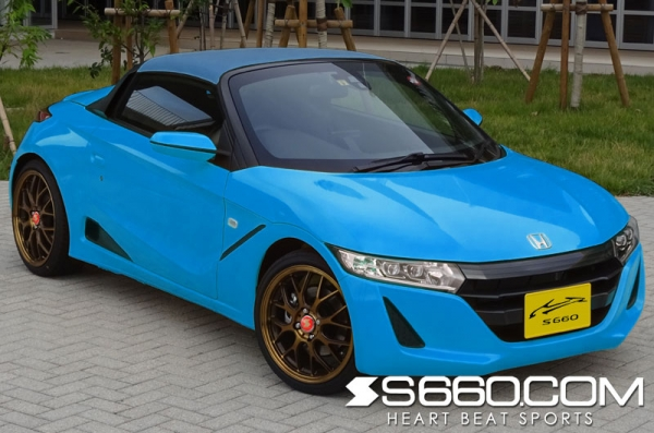 S660 | 幌 / サントップ【S660コム】S660 カラードロールトップ プレミアムビーチブルー