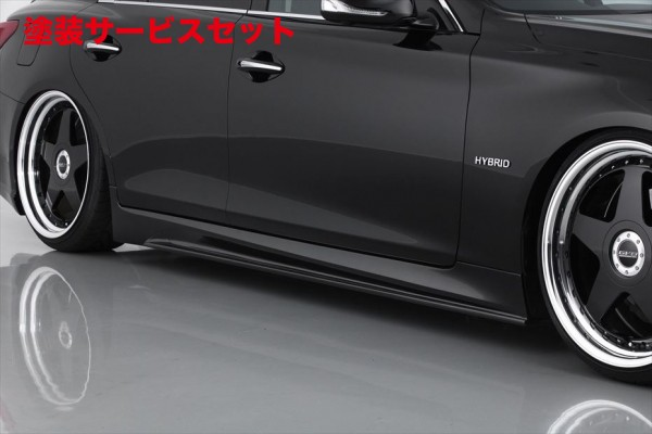 ★色番号塗装発送V37 スカイラインセダン   サイドステップ【エイムゲイン】SKYLINE V37 純VIP GT サイドステップ