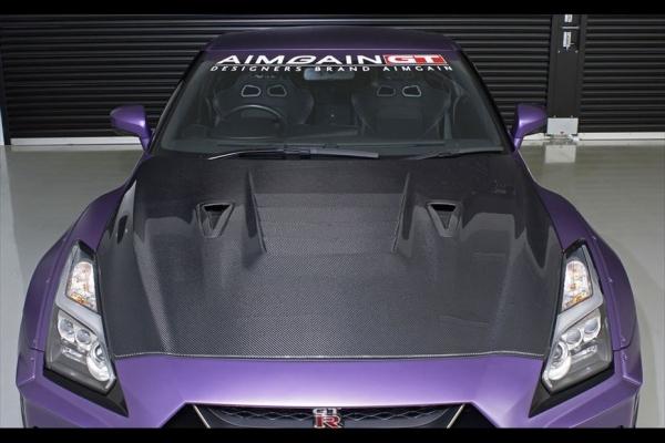 GT-R R35 | ボンネットフード【エイムゲイン】GT-R R35 AIMGAIN GT type2 カーボンボンネット(17モデル専用)