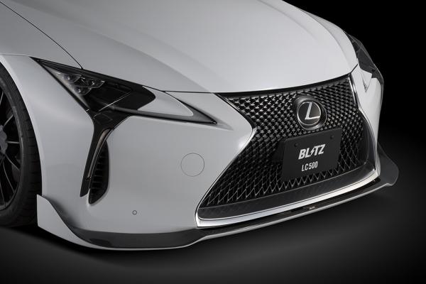 LEXUS LC | フロントリップ【ブリッツ】LC500/500h Z100系 Front Lip Spoiler メーカー塗装済み:223 グラファイトブラック