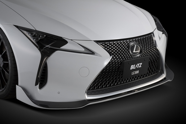 LEXUS LC   フロントリップ【ブリッツ】LC500/500h Z100系 Front Lip Spoiler メーカー塗装済み:1J7 ソニックチタニウム