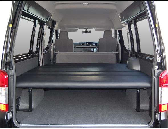 E26 NV350 キャラバン ワイドボディ | ベットキット【エアーズロックジャパン】NV350キャラバン E26 DX ワイドボディ スーパーロング 車中泊 ベッドキット 5段階調整付 ベージュ リアヒーター無